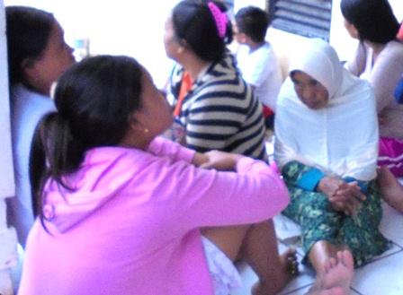 Pengungsi di Rusunawa Al Musadaddiyah Tengah Merenungi Takdir Mereka Alami.