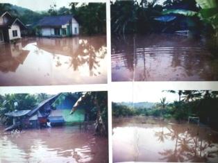 Kondisi Banjir di Cibatu.
