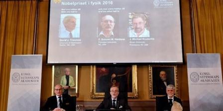Pemenang Nobel Fisika 2016. (Anders Wiklund/AFP/Getty Images).