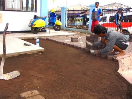 Penataan juga Diselenggarakan Pada Lingkungan Kantor UPTD Pasar Guntur Ciawitali Garut.