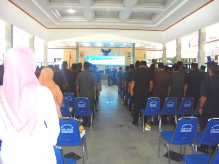 Bupati Garut Lantik Pejabat, Kamis (29/12-2016).