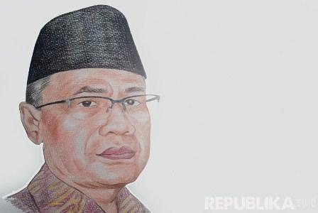 KH Haedar Nashir (Ilustrasi).  Republika/Da'an Yahya.