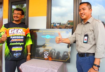 Wabup Helmi Budiman Didampingi Capt Dodi Kristanto Resmikan Bangunan Bantuan APG.
