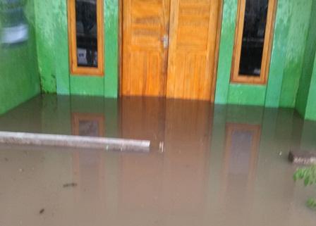 Rumah Penduduk di Kelurahan Sukajaya Kerap Terdampak Banjir.