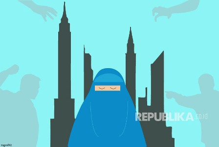 Ilustrasi Islamphobia. (Foto : MgRol_92).