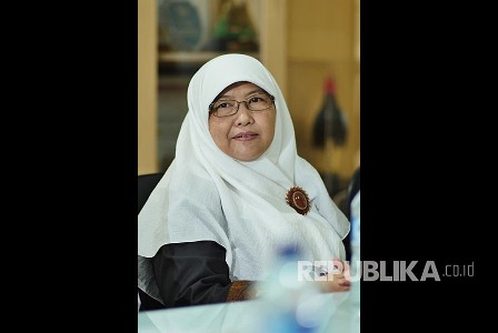 Rahayu Amatullah Penulis buku: Kartini dan Muslimah dalam Rahim Sejarah. (Republika/Yogi Ardhi).