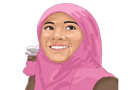 Nadia. (Daan Yahya/Republika).