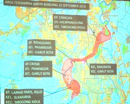 Area Terdampak Ouncak Amuk Cimanuk, 20 September 2016 Silam.