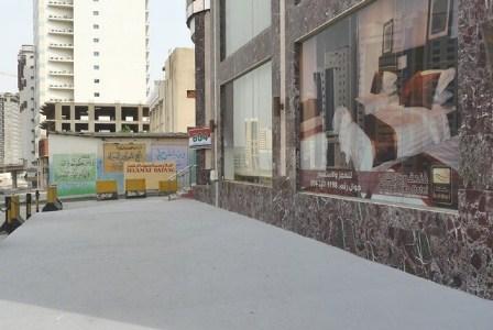 Salah satu pemondokan haji yang berada di Kawasan Syisya, Makkah. (nashih nashrullah/ Republika).